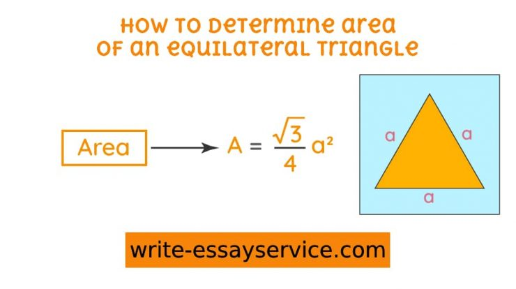 how to determine the area of an equilateral triangle